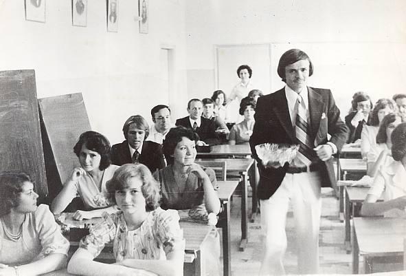 в классе перед балом