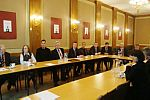 Meeting of Club Members in Chamber of Commerce and Industry