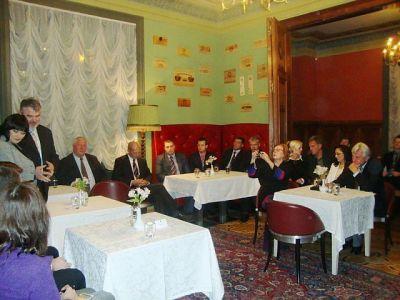 Встреча дипломатов с А. Шлесерс