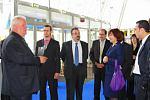 Дипломаты на встрече вмеждународном выставочном центре
