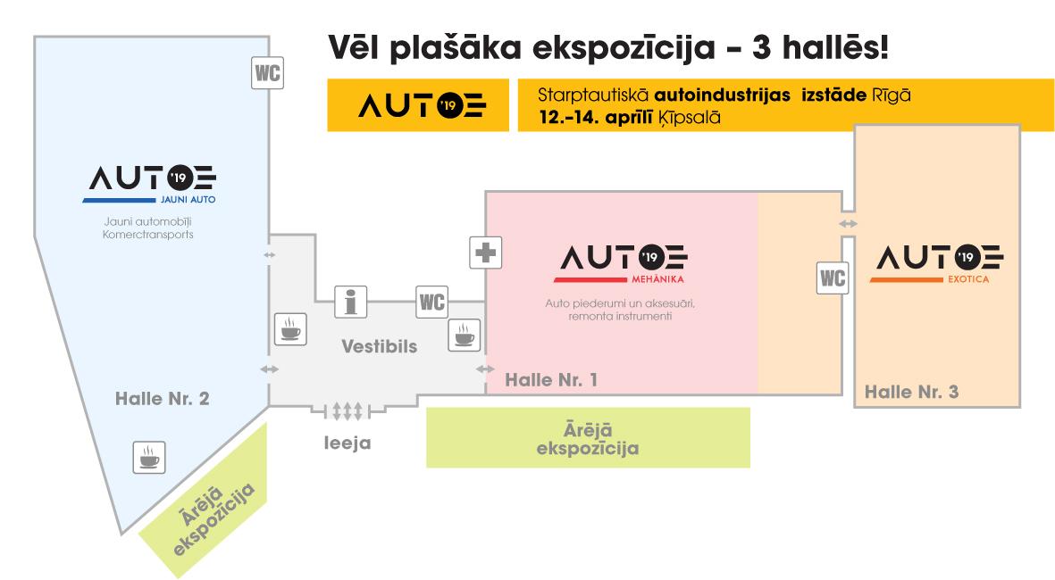 Auto 2019 izstādes plāns